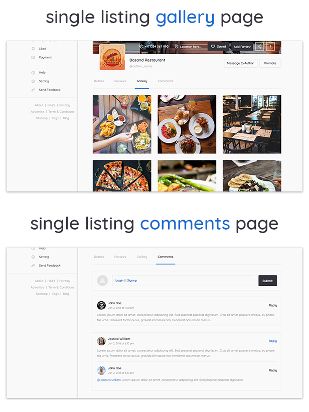 YouListing - Classified Listing and Directory Social Networking PSD Template - 4