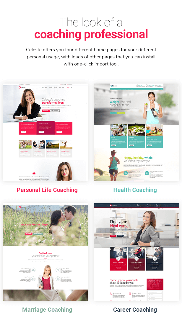 Celeste - Life Coach and Therapist WordPress Theme - 1