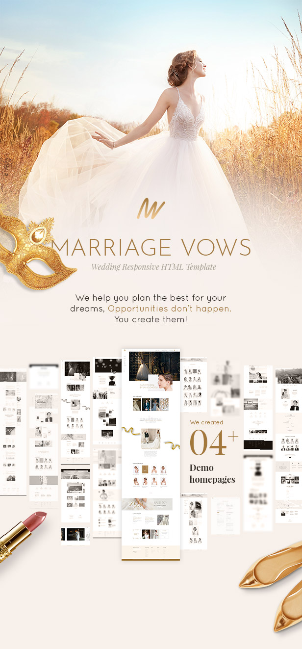 The Vow Wedding Responsive Html Template By Engotheme Themeforest