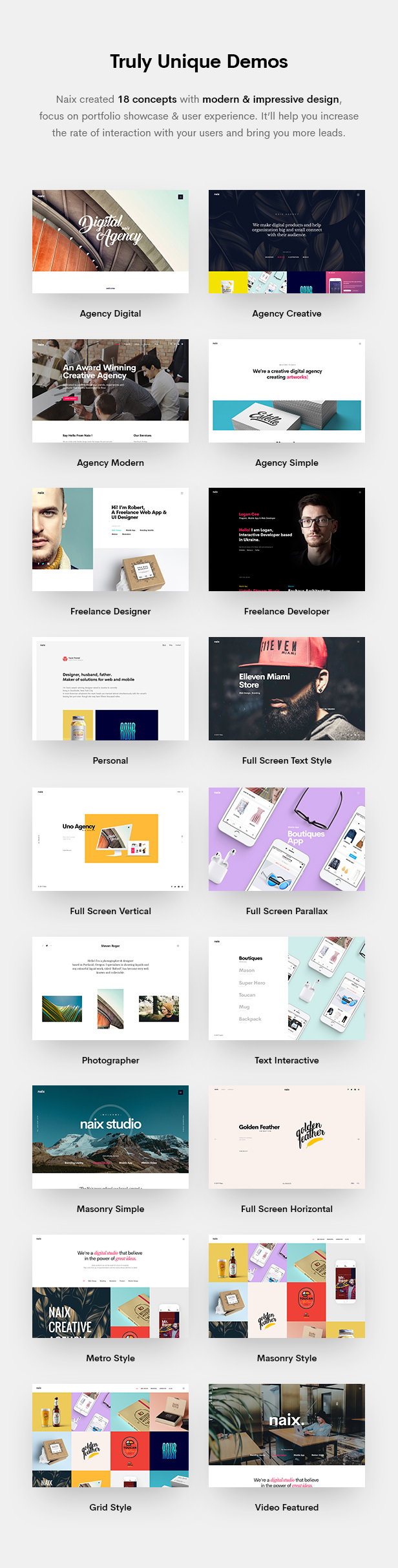 Naix - Creative Portfolio PSD Template - 7