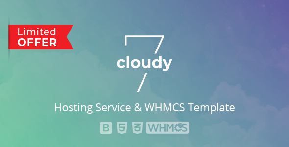 Cloudy 7 - Hosting Service & WHMCS Template