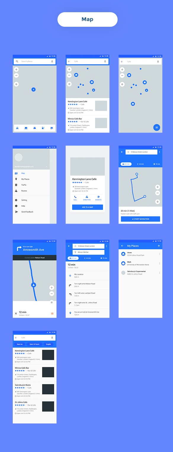 Baseframe - Wireframe UI KIT 200++ Sketch - XD - PSD Template