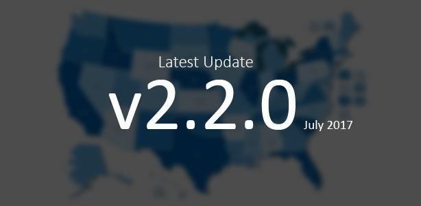 Last Update of the Interactive US Map WordPress Plugin