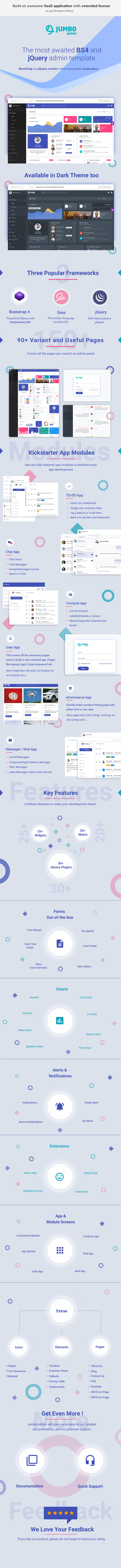 BootStrap 4 jQuery Admin Template - Jumbo Admin