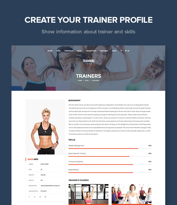Training Zone - Gym & Fitness WordPress Theme - 8