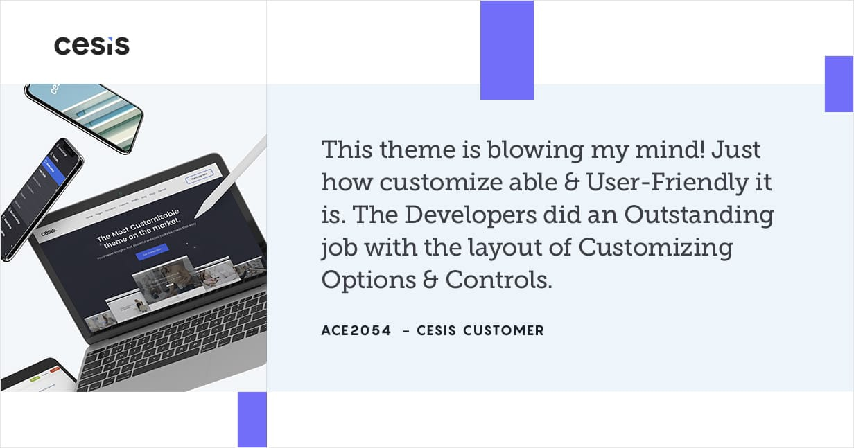 Cesis is the BEST WordPress Theme on ThemeForest
