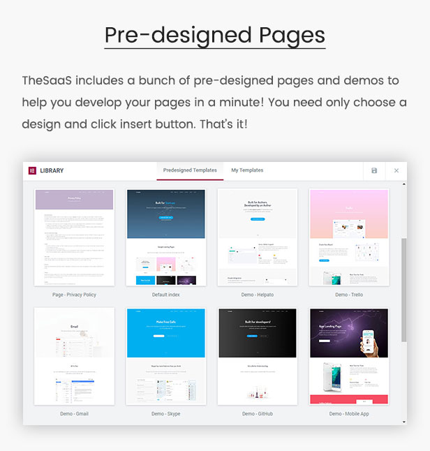 TheSaaS - predesigned templates