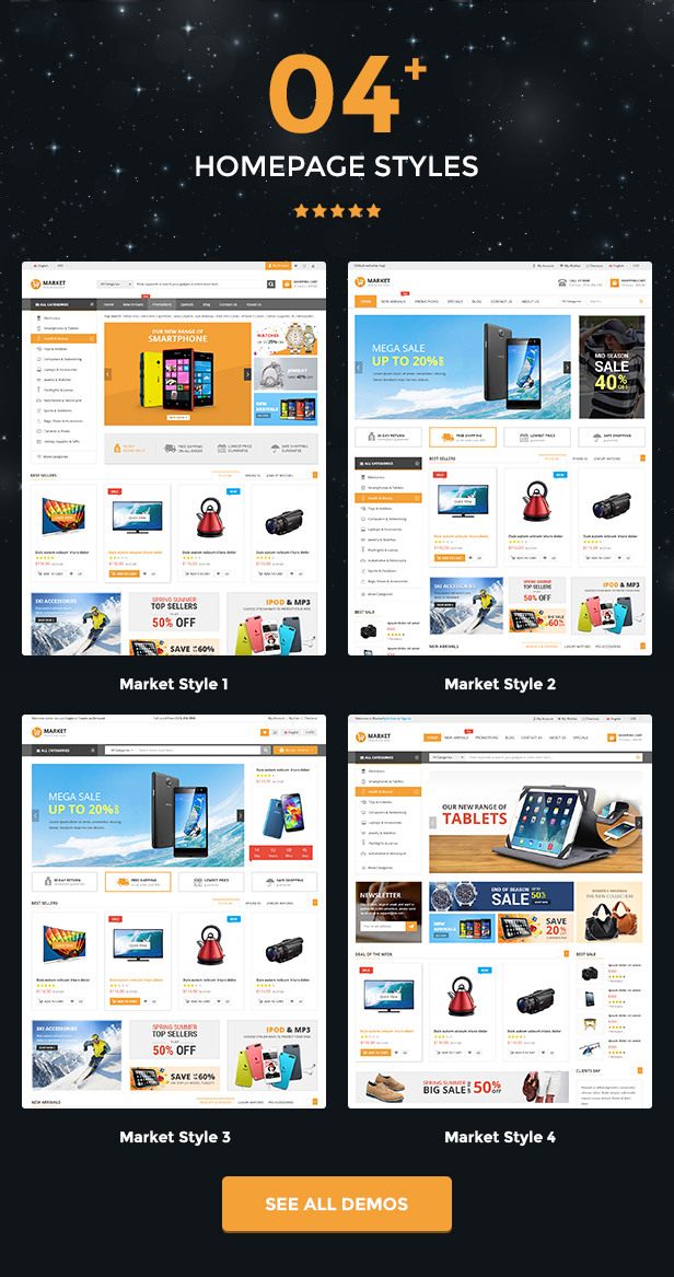 Market - Responsive Multipurpose Prestashop Theme - Intro