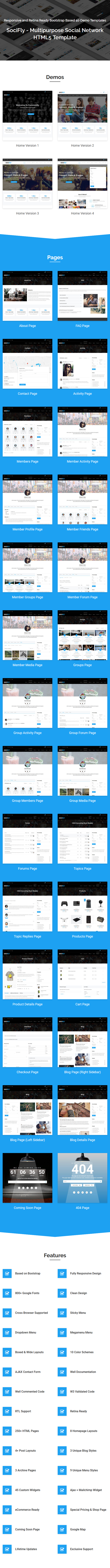 Socifly Multipurpose Social Network Html5 Template By Themelooks
