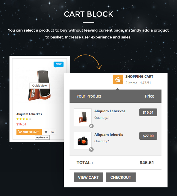 Market - Responsive Multipurpose Prestashop Theme - Cart