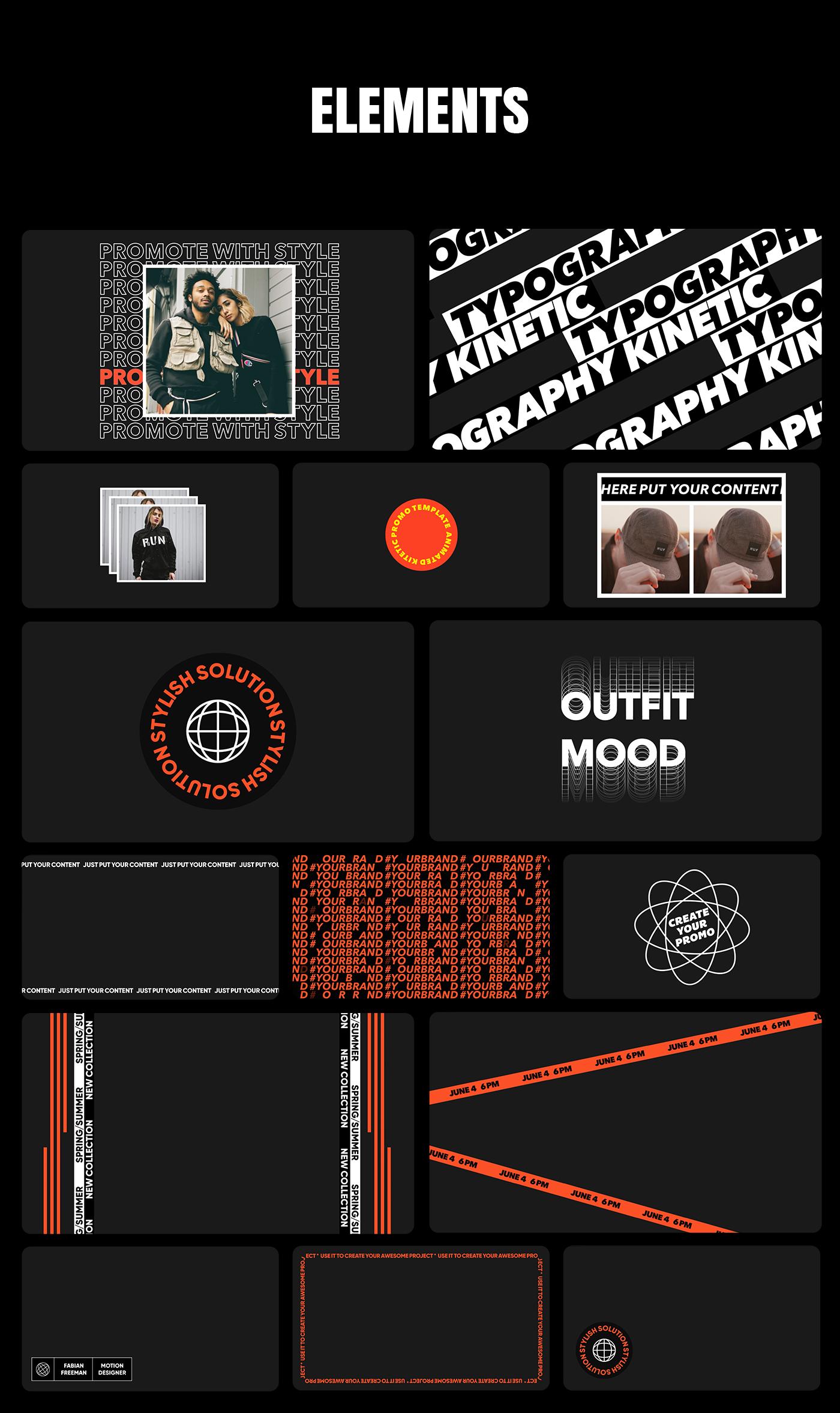 AE脚本-200多个创意文字标题排版时尚宣传视频包装动画工具包 Kinetic Social Pack for Win/Mac破解版插图18