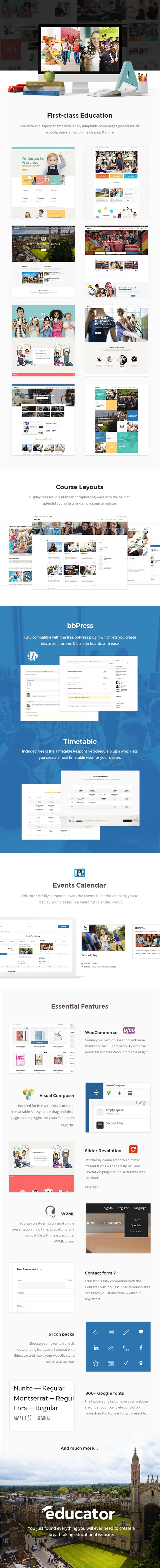 Educator - Education Theme for School, College and University - 1
