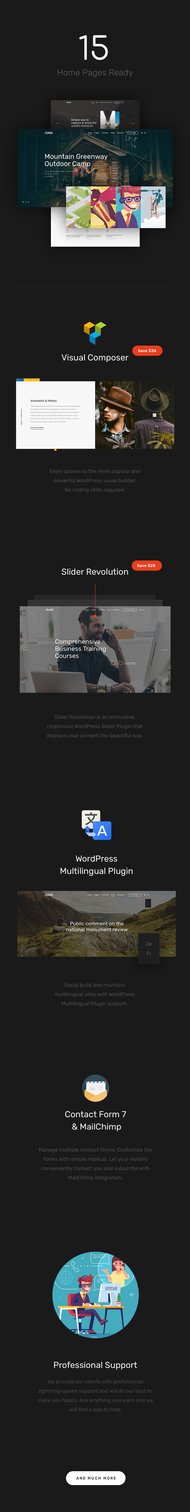 Jugo — Responsive Multipurpose WordPress Theme
