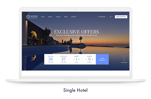 Travel Booking WordPress Theme - 10