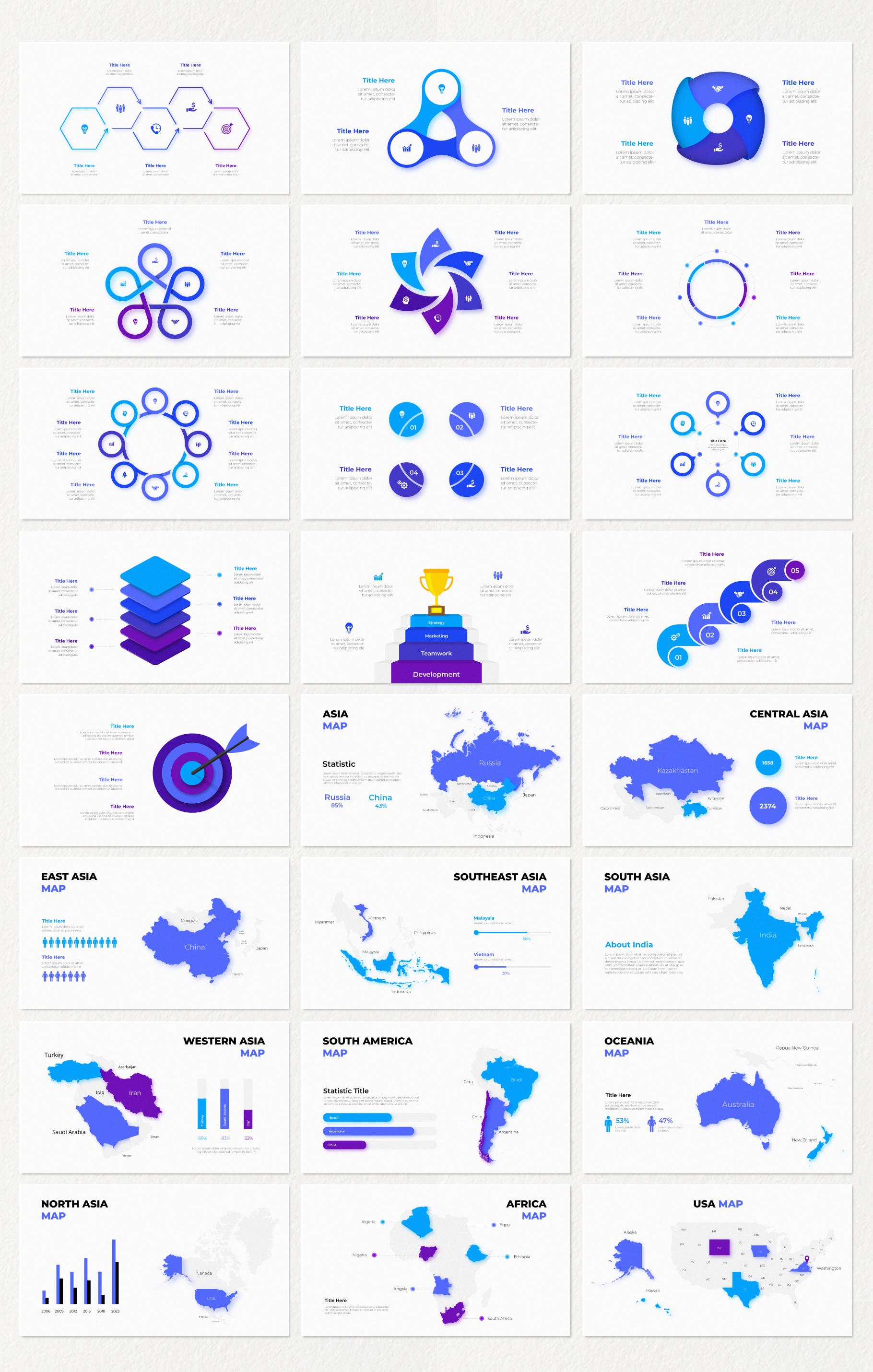 Multipurpose Infographics PowerPoint Templates v.5.0 - 43