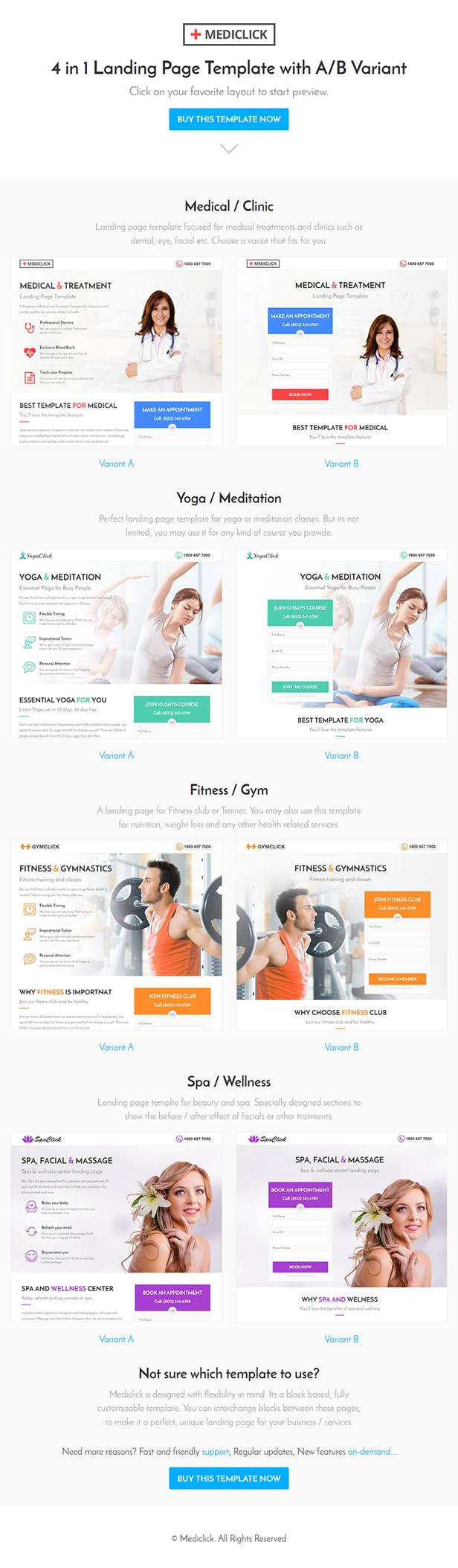 Mediclick - Medical Landing Page WordPress Theme by ThemeModern ...