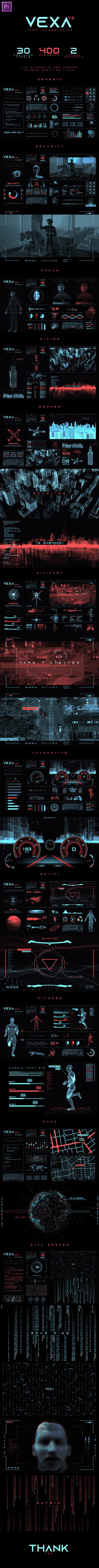 Vexa HUD Infographics Essential Graphics   Mogrt - 8