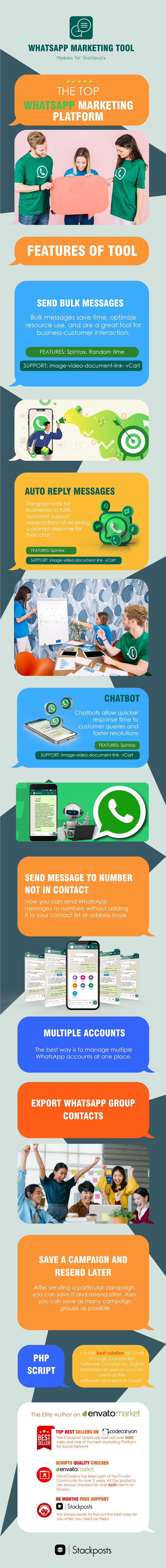 Whatsapp Marketing Tool Module For Stackposts - 1