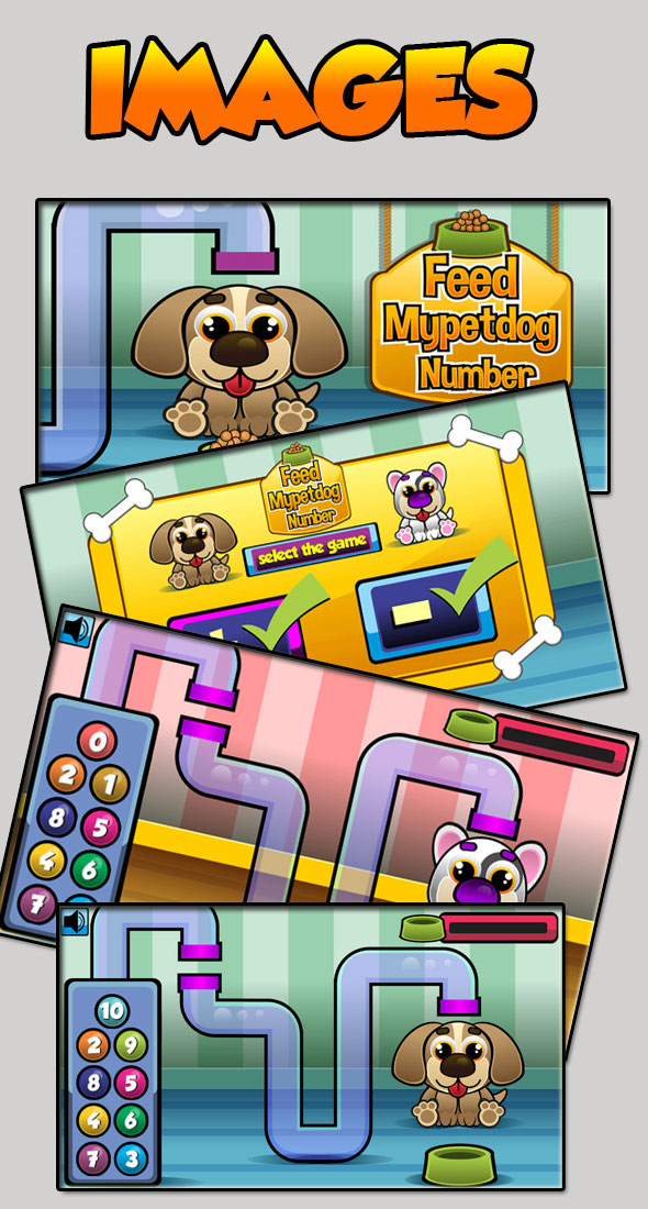 Feed Mypetdog Number - Educational HTML5 Game (CAPX) - 5