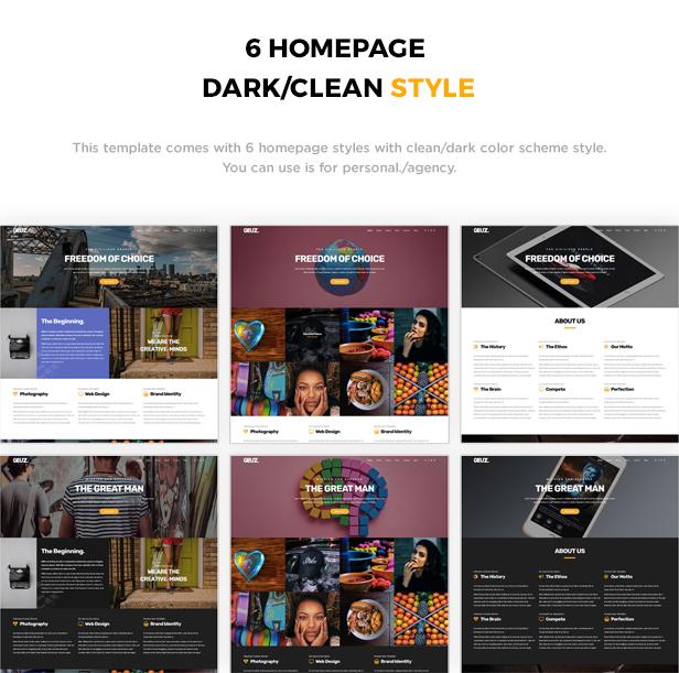 Geuz - Responsive One Page Portfolio Template - 2
