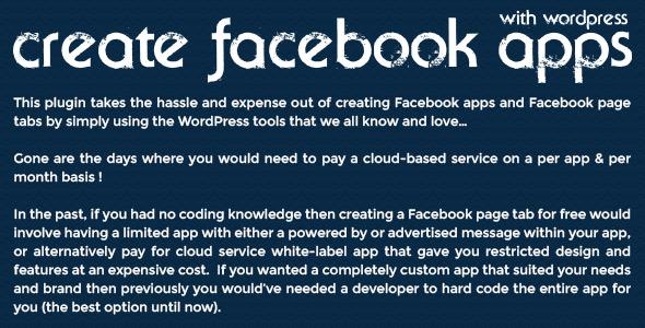 WordPress ile Facebook uygulamaları Create - 1