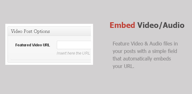Embed Video and Audio