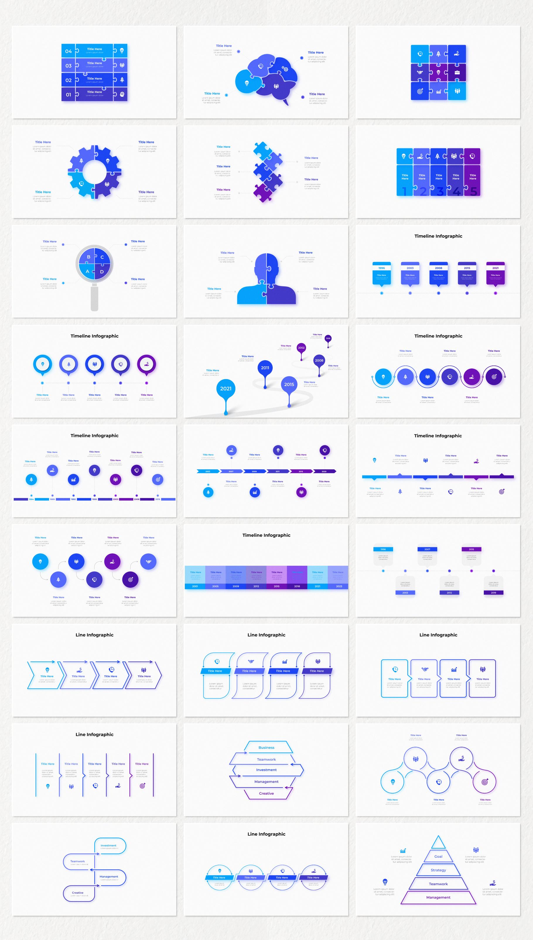 Multipurpose Infographics PowerPoint Templates v.5.0 - 41
