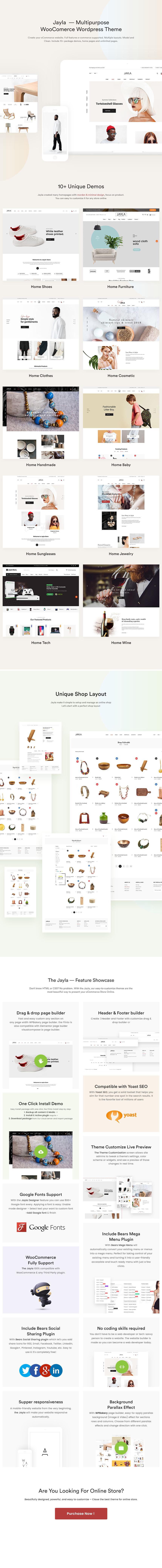 Jayla - Minimal & Modern Multi-Concept WooCommerce Theme - 1