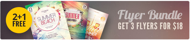 Summer Beach Party Flyer Bundle Vol.01