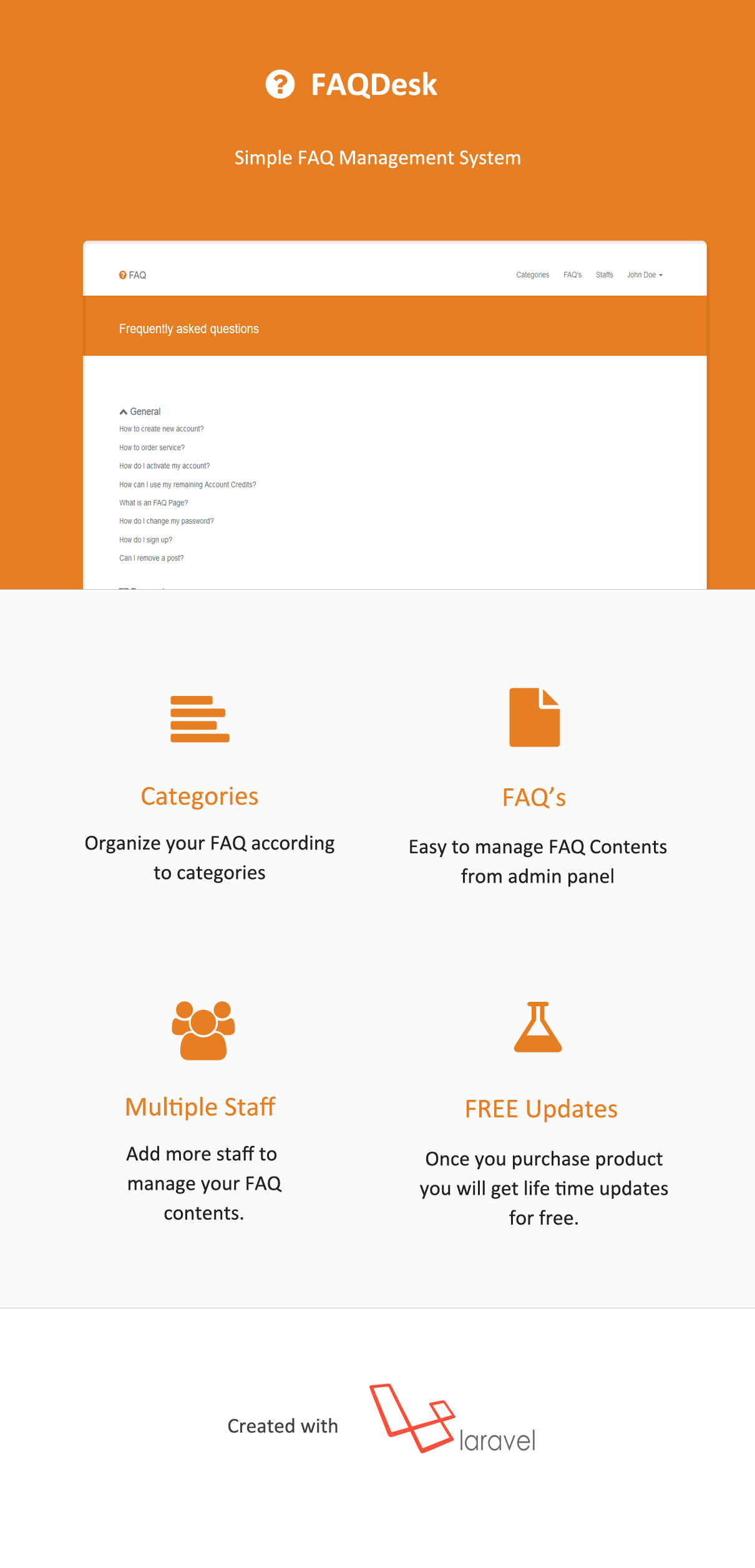 FAQDesk -  Frequently asked questions management system - 8