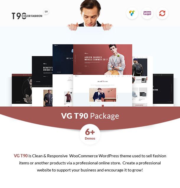 VG T90 - Clean, Minimalist WooCommerce WordPress Theme - 1