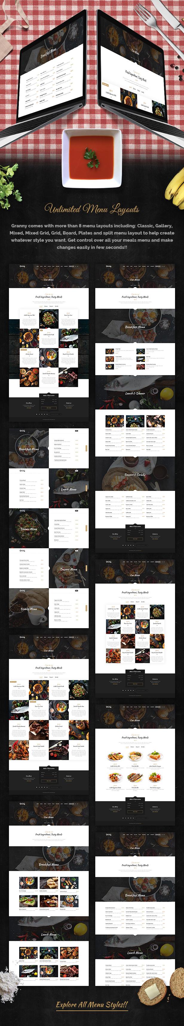Restaurant Granny - Elegant Restaurant & Cafe WordPress Theme - 6