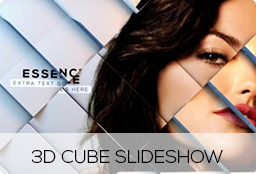 3D Cube Slideshow in 4k