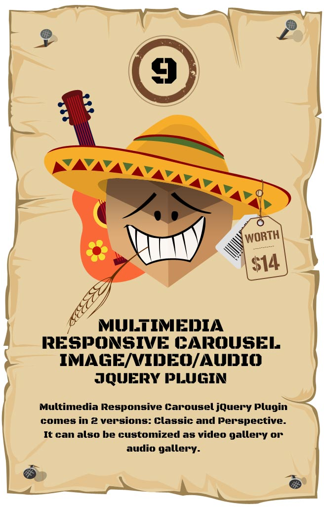 Multimedia Responsive Carousel Responsive Plugin