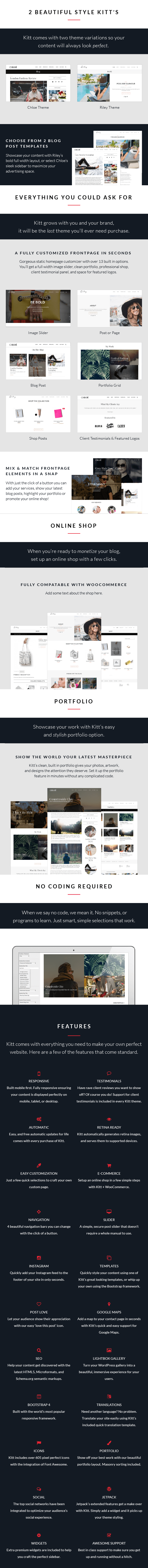 Kitt WordPress Theme For Fashion Blogs - Details
