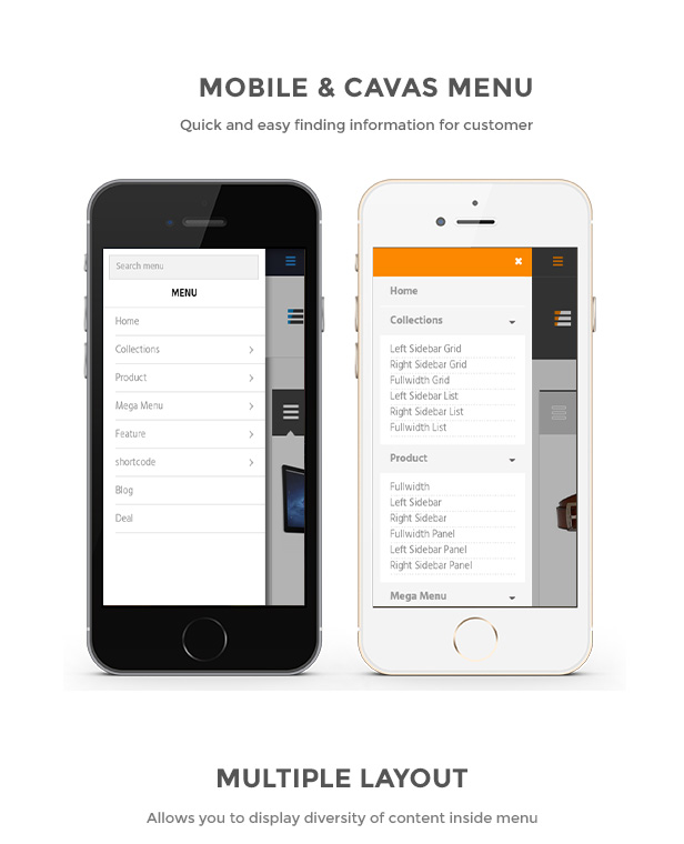 cavas menu shopify template