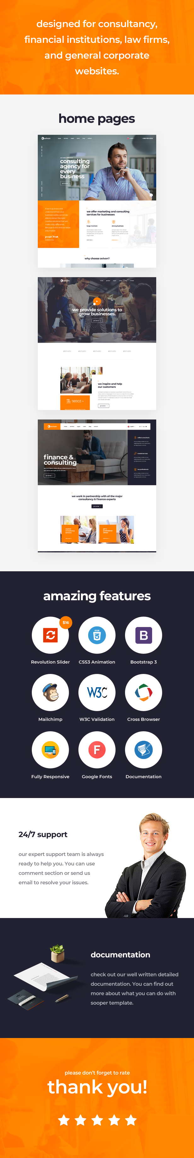 Avivon - Pure Business Consulting & Finance HTML5 Template - 1