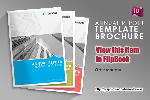 Annual Report Indesign Template By Braxas GraphicRiver - Annual report template indesign