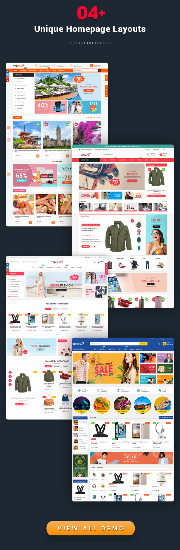 TopDeal - Multipurpose Shopify Theme with Sectioned Drag & Drop Builder