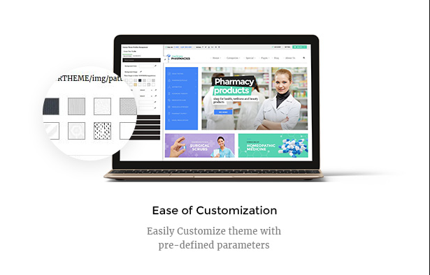 Customize Medicare Pharmacies healthcare wordpress theme easily