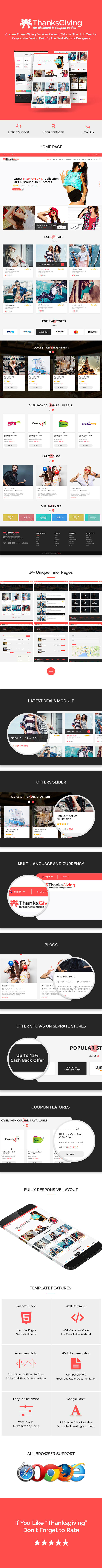Thanksgiving - HTML5 template for the Discount offers and coupon codes - 2