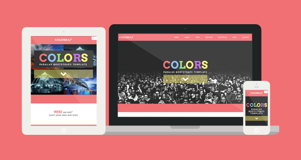 Colors - Paralax Bootstrap HTML5 Template - 6