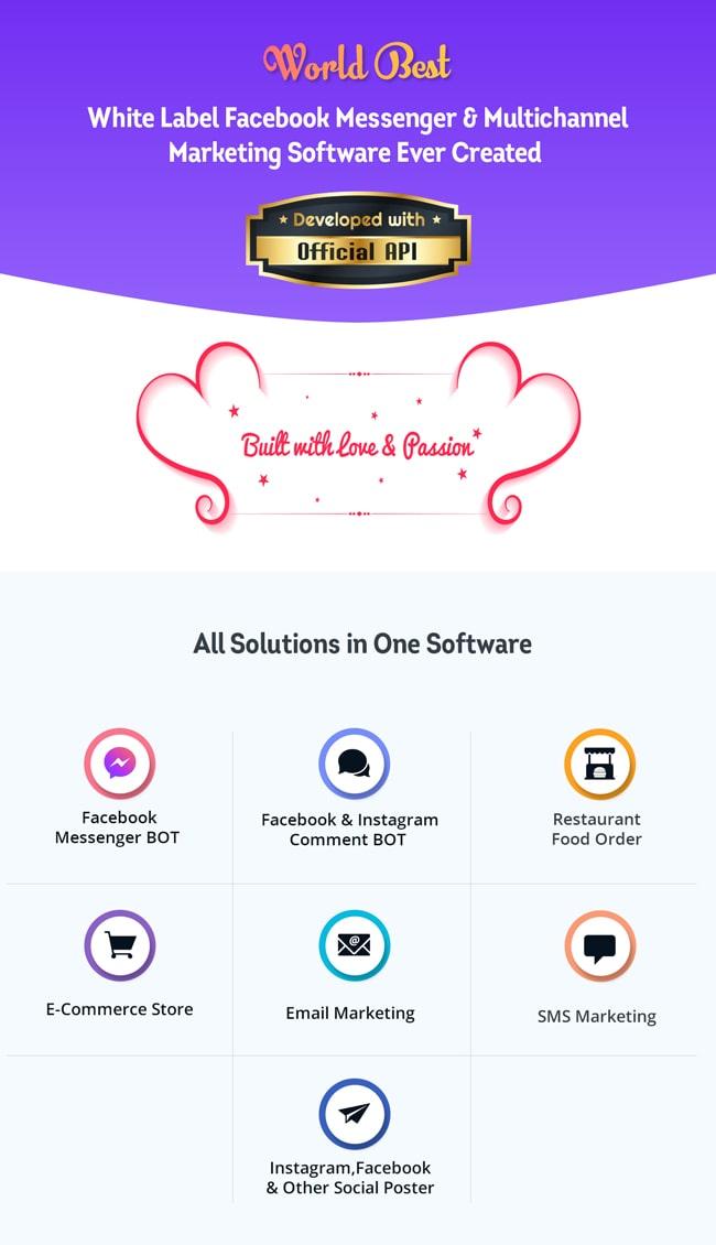 XeroChat - Facebook Chatbot, eCommerce & Social Media Management Tool (SaaS) - 10