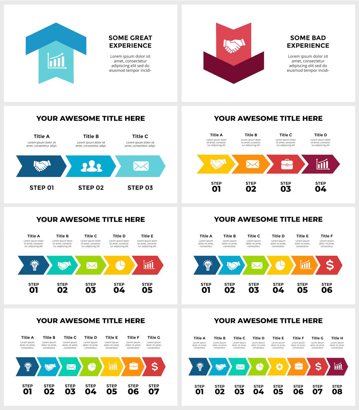 Huge Infographics Bundle! Lifetime Updates! PowerPoint, Photoshop, Illustrator. - 239