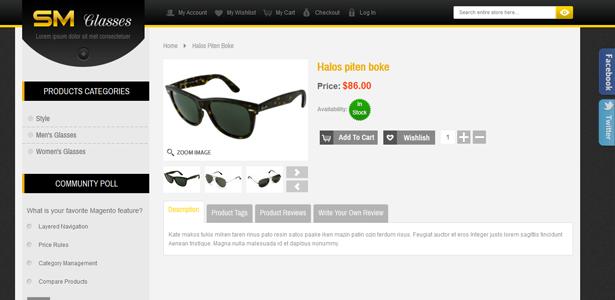 SM Glasses Responsive Magento Theme - 8