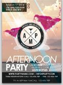 Afternoon Cocktails Flyer Template