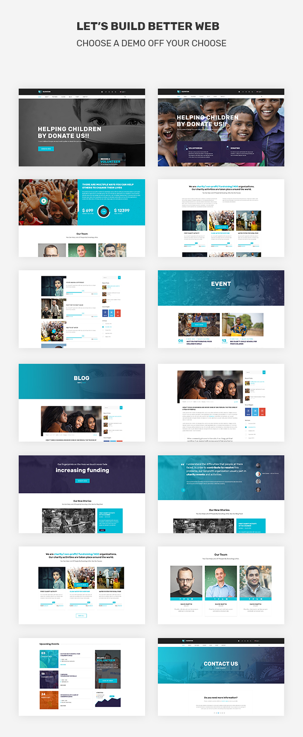 ELEVATION - Charity / Nonprofit / Fundraising PSD Template - 3