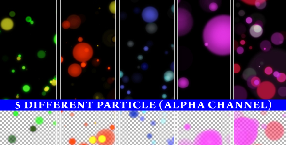 Colorful Particle (6 Different Backgrounds Loop) - 4