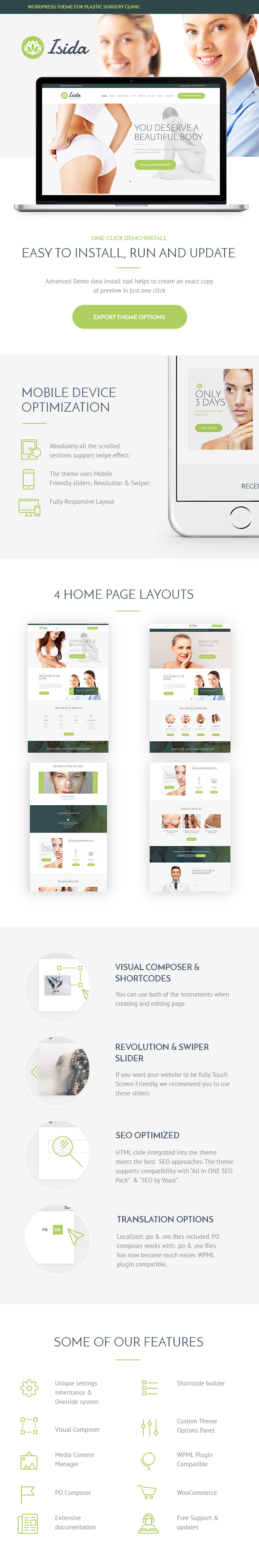 Isida - Plastic Surgery Clinic | Medical WordPress Theme - 2