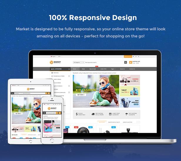 Market - Premium Responsive Magento 2 & 1.9 Store Theme - Responsive